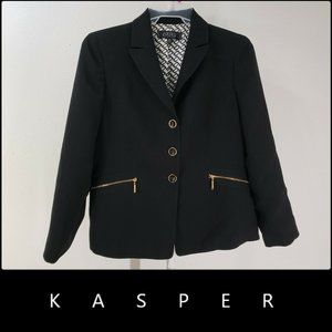Kasper Woman Blazer Suit Size 12P Black